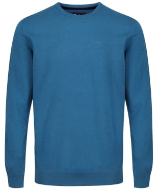Men's Barbour Tisbury Crew Neck Sweater - Blue Steel