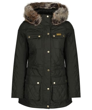Women's Barbour International Enduro Quilt - Moto Green