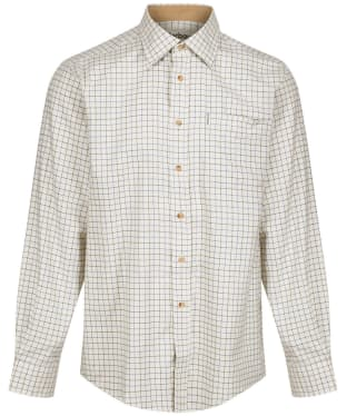 Men's Barbour Field Tattersall Shirt - Classic collar - New Navy