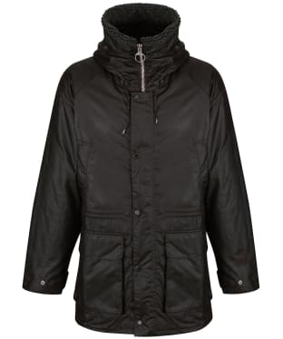 Men's Barbour Fenton Waxed Parka Jacket - Rustic