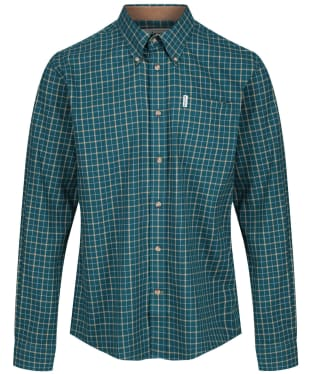 Men's Barbour Bank Check Shirt - Green Check