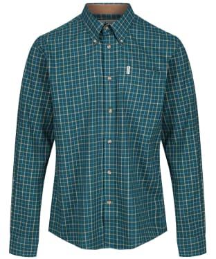 Men's Barbour Bank Check Shirt - Green Check