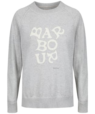 Women's Barbour x Emma Bridgewater Chloe Knit Sweater - Pale Grey Marl