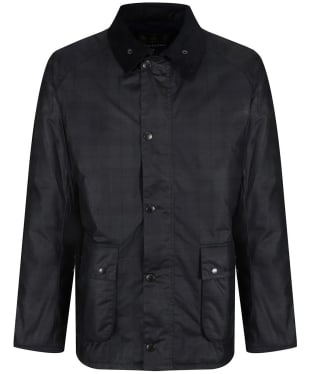 Men's Barbour Naburn Waxed Jacket - Black Watch
