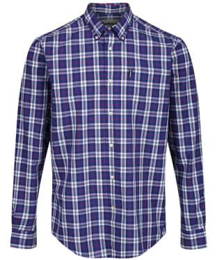 Men's Barbour Highland Check 8 Tailored Shirt - Blue Check