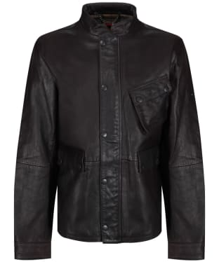 Men's Barbour International Thunder Leather Jacket