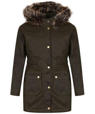 Girl's Barbour Thrunton Waxed Jacket, 10-15yrs