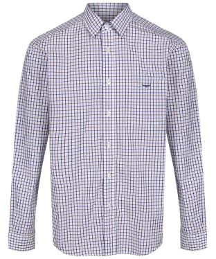 Men's R.M. Williams Collins Shirt - Brown / Navy / White