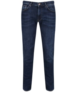 Men's GANT Slim Straight Jeans - Dark Blue Worn In