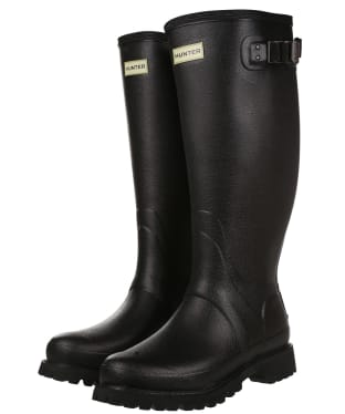 Men's Hunter Field Balmoral Wide Fit Wellington Boots - Black