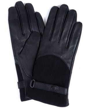 Women's Barbour Blair Leather Wool Gloves - Black