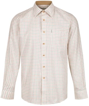 Men's Barbour Field Tattersall Shirt - Classic collar - New Rich Red