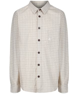 Kid's Seeland Colin Shirt - Bitter Chocolate Check