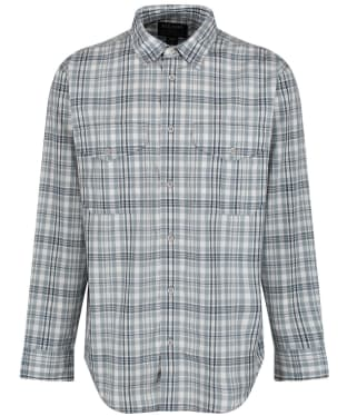 Men's Filson Feather Cloth Shirt - Light Blue / Grey / White