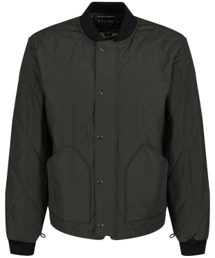 Men's Filson Quilted Pack Jacket - Dark Otter Green