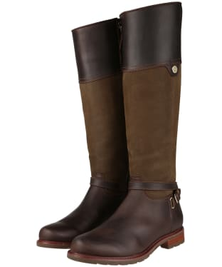 Women's Ariat Carden H2O Boots - Chocolate / Dark Olive