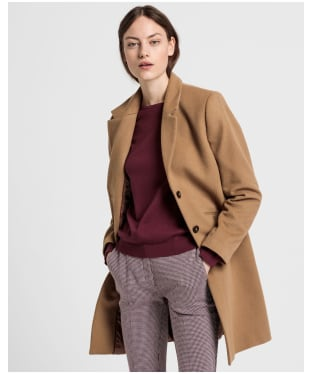 Women's GANT Classic Tailored Coat - Warm Khaki