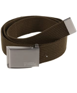 Men's Fjallraven Canvas Belt - Dark Olive
