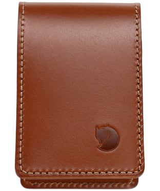 Men's Fjallraven Ovik Card Holder Large - Leather Cognac