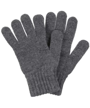 Men's Barbour Lambswool Gloves - Grey