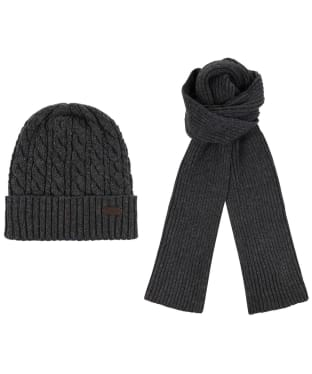 Men's Barbour Liskeard Beanie and Scarf Gift Set