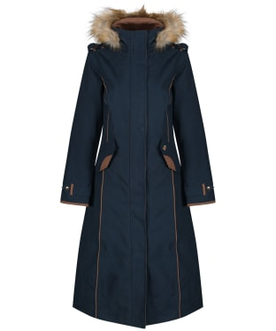 Women's Alan Paine Berwick Waterproof Long Coat - Dark Navy