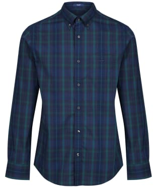 Men's GANT Tech Prep™ Plaid Broadcloth Shirt - Atlantic Deep