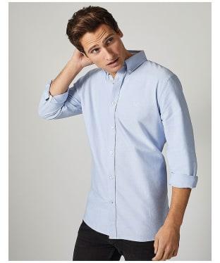Men's Crew Clothing Plain Oxford Shirt - Sky