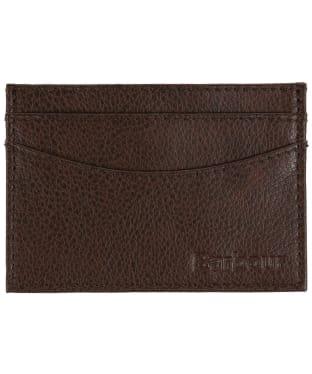 Men's Barbour Peterlee Leather Card Holder - Dark Brown