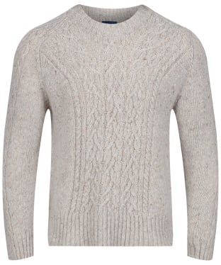Women's GANT Cable Neps Crew Sweater - Manila Melange