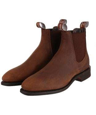 Men's R.M. Williams Distressed Comfort Craftsman Boots - G-Fit - Bark