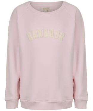 Girl's Barbour Clair Sweatshirt, 6-9yrs - Rose