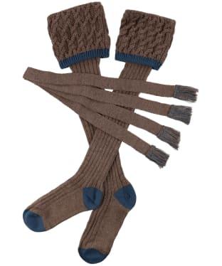 Men's Schoffel Lattice Socks - Stone Blue