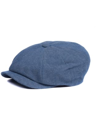 Men's Barbour Herringbone Guillemot Cap - Chambray Blue