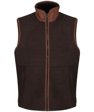Men's Alan Paine Aylsham Fleece Waistcoat - Peat