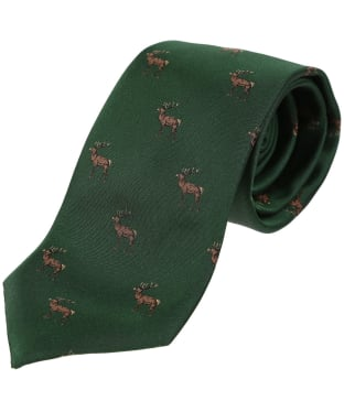 Men's Laksen Deer Tie - British Racing Green