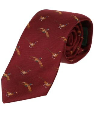 Men's Laksen Fly-By Pheasant Tie - Vintage Red