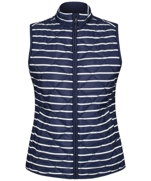Women's Crew Clothing Stripe Gilet - Navy / White