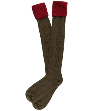 Men's Pennine Defender Shooting Socks - Cherry / Greenacre