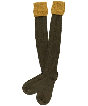 Men's Pennine Defender Shooting Socks - Pollen / Greenacre