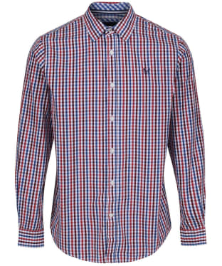 Men's Crew Clothing Classic Gingham Shirt - Portroyale Red / Navy