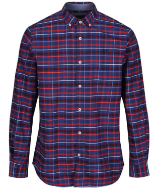 Men's Crew Clothing Ridgegate Classic Shirt - Bright Navy / Red