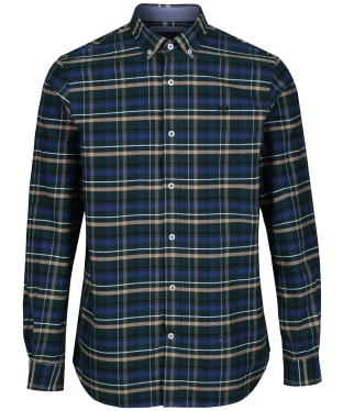 Men's Crew Clothing Ridgegate Classic Shirt - Ivy / Stone / Black