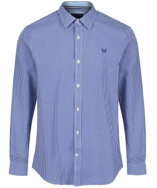 Men's Crew Clothing Classic Micro Gingham Shirt - Ultra Marine