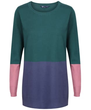 Women's Crew Clothing Colourblock Tunic - Green Mix