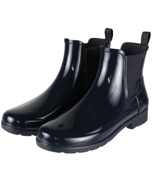 Women's Hunter Original Refined Chelsea Gloss Boots - Navy