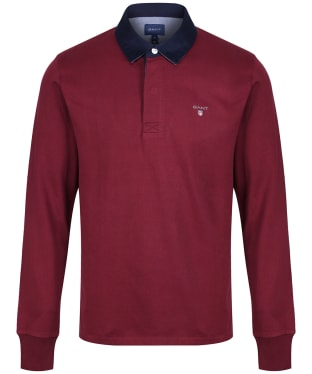 Men's GANT Original Heavy Rugby Shirt - Port Red
