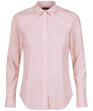 Women's GANT Stretch Banker Stripe Broadcloth Shirt - Preppy Pink