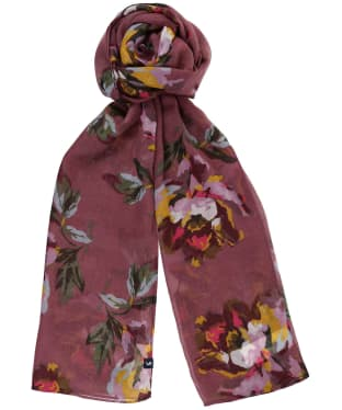 Women's Joules Wensley Printed Scarf - Purple Floral