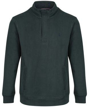 Men's Joules Deckside Half Zip Sweatshirt - Racing Green